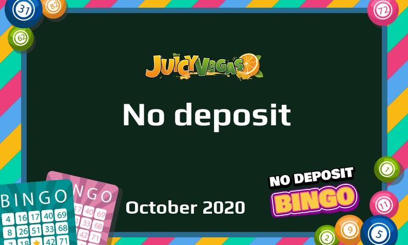 Latest Juicy Vegas no deposit bonus 25th of October 2020