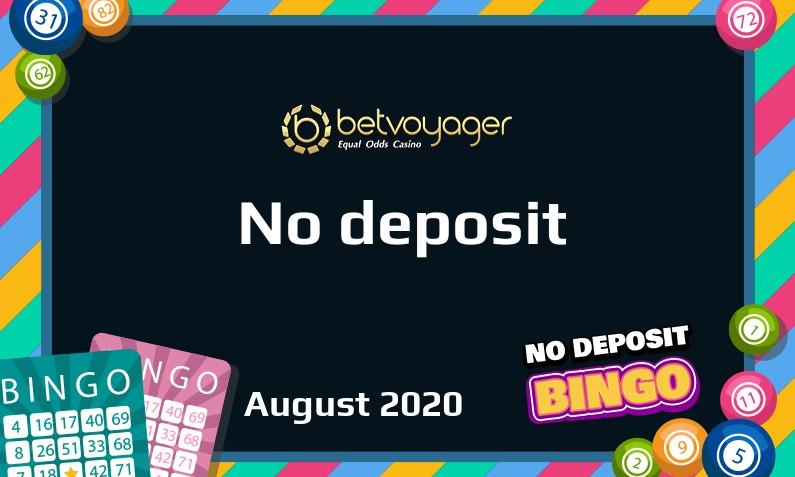 Latest no deposit bonus from Betvoyager Casino- 19th of August 2020