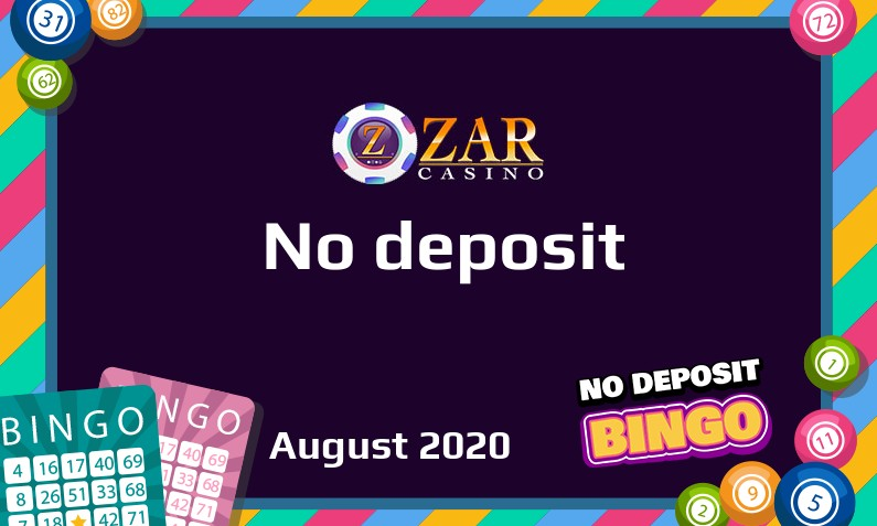 Latest no deposit bonus from Zar Casino 24th of August 2020