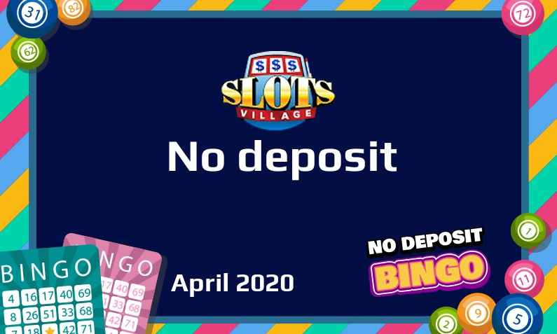 Latest SlotsVillage Casino no deposit UK bonus 29th of April 2020