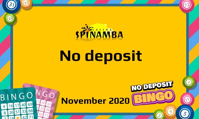 Latest Spinamba no deposit bonus November 2020