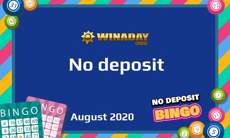 Latest Winaday Casino no deposit bonus August 2020